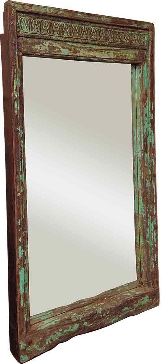 Green Framed Mirror - Mirrors - Home Furnishings