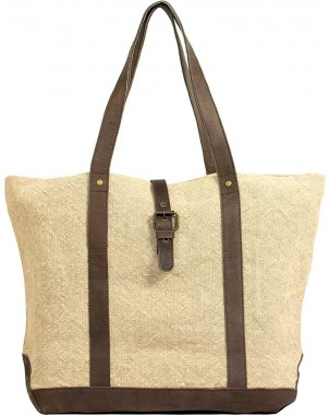 Natural Jute Shoulder Bag FRONT