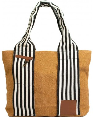 Almond Jute Tote FRONT