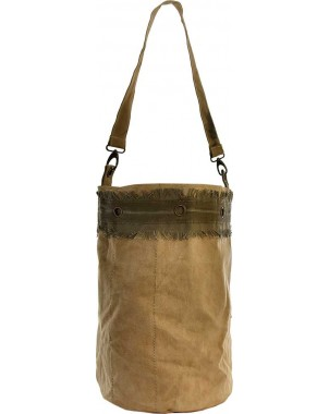 Recycled Military Tent Bucket Bag