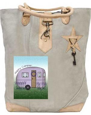 Happy Camper Canvas Tote