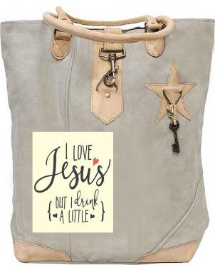 I Love Jesus Canvas Tote