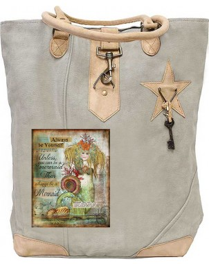 Always Be Yourself Canvas Tote