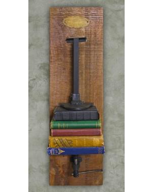 Industrial Chic Iron & Wood Machinery Bookshelf