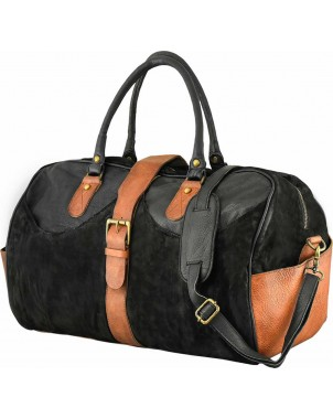 Suede & Leather Travel Bag