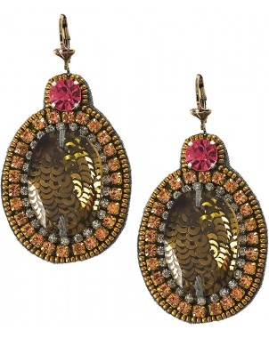 Wonderland Topaz Earrings with Pink Accents