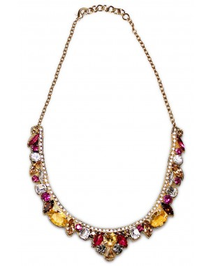 Multi-color Crystal Necklace