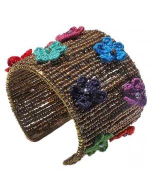 Knit Petals Bracelet