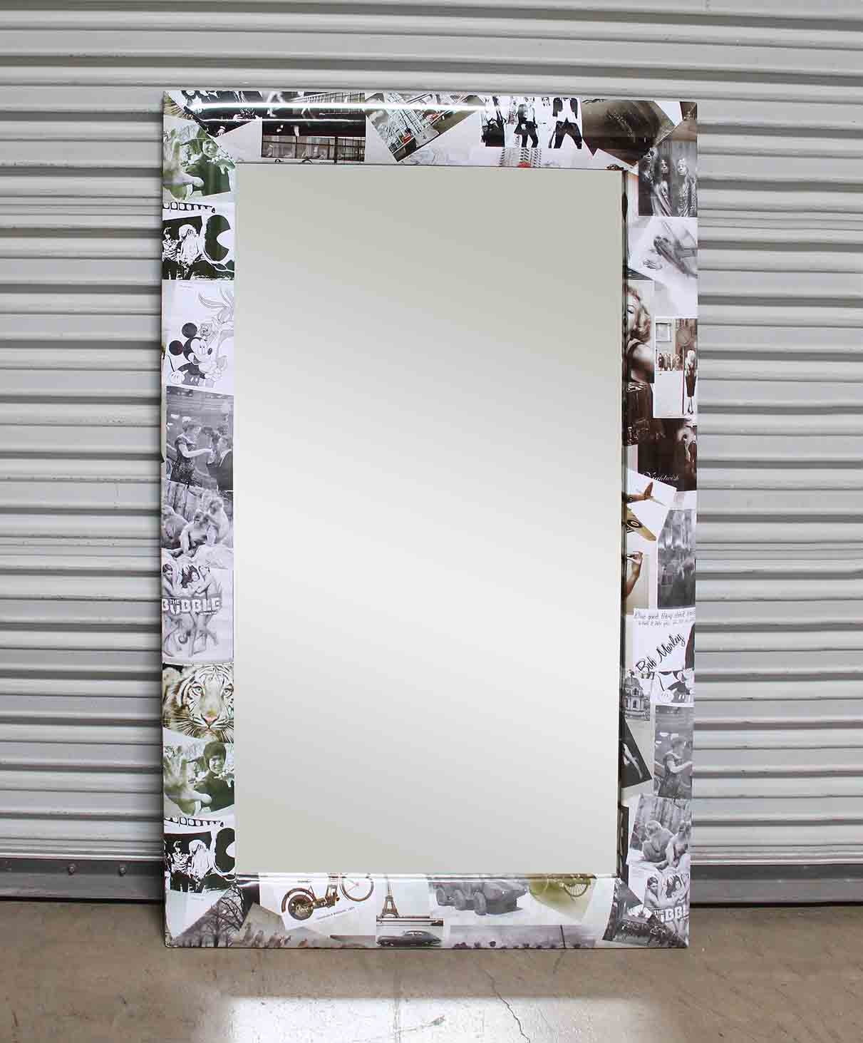 photo collage frame mirror rounded frame
