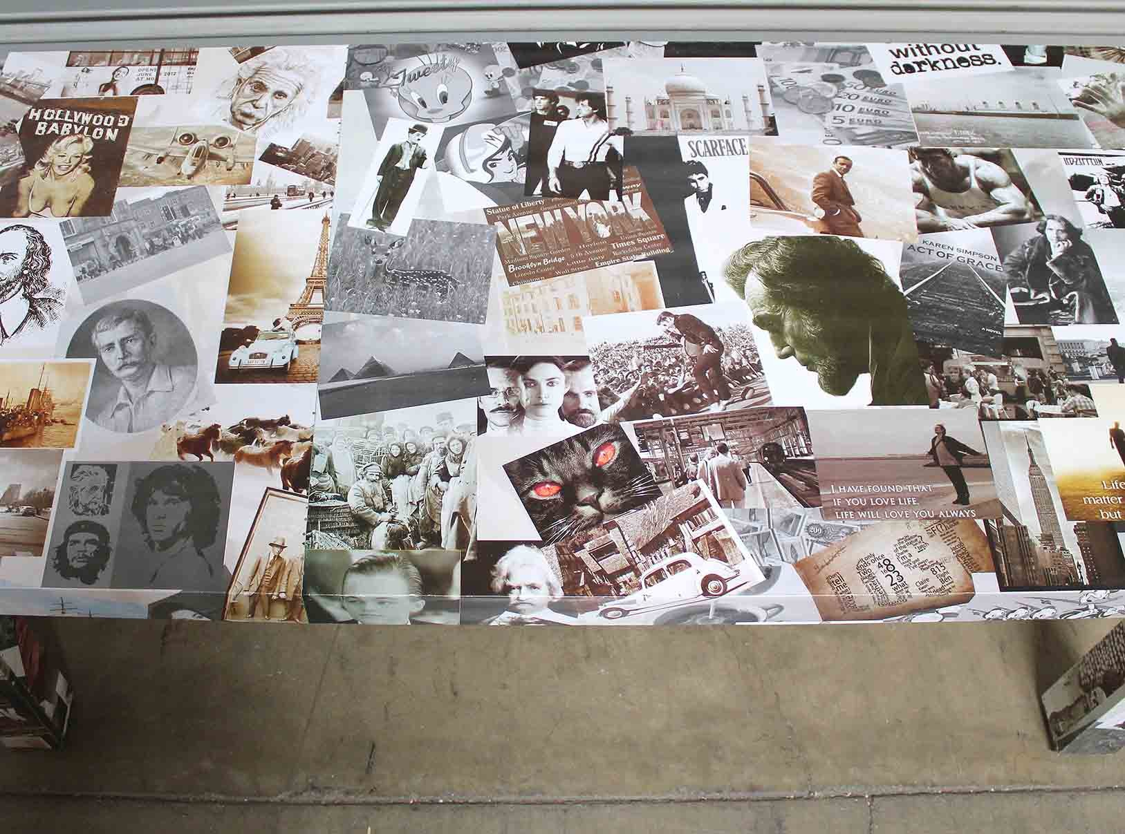 Photo Collage Coffee Table Tables Home Furnishings