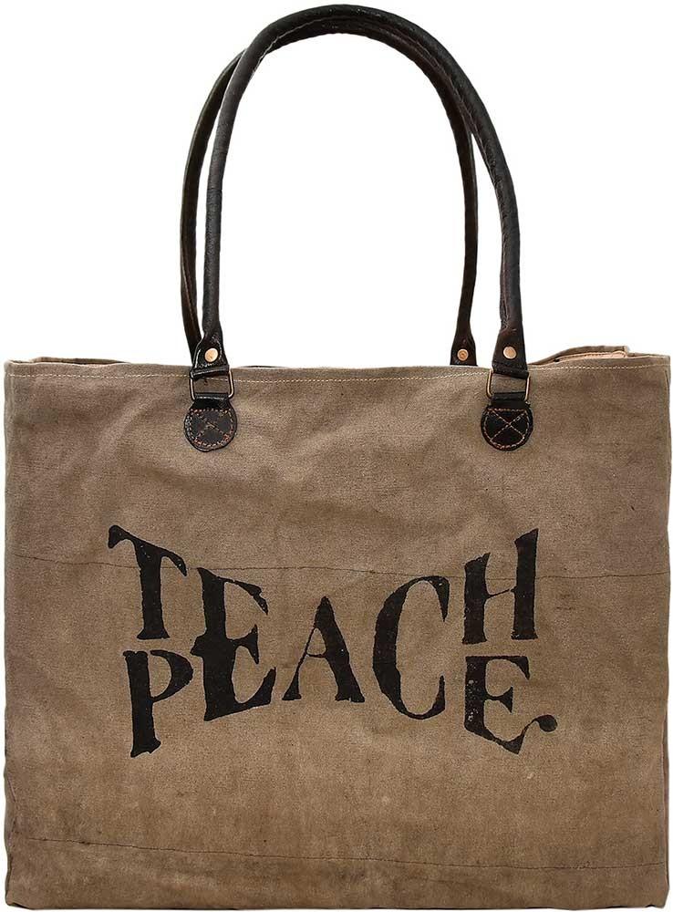 Teach Peace Market Tote