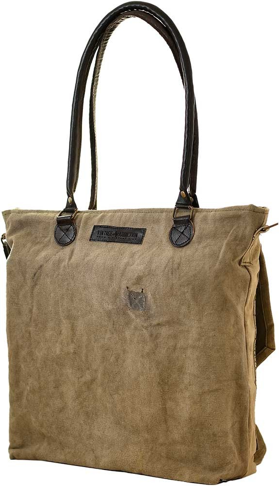 Export Merchant Tote Messenger Bag Recycled Military