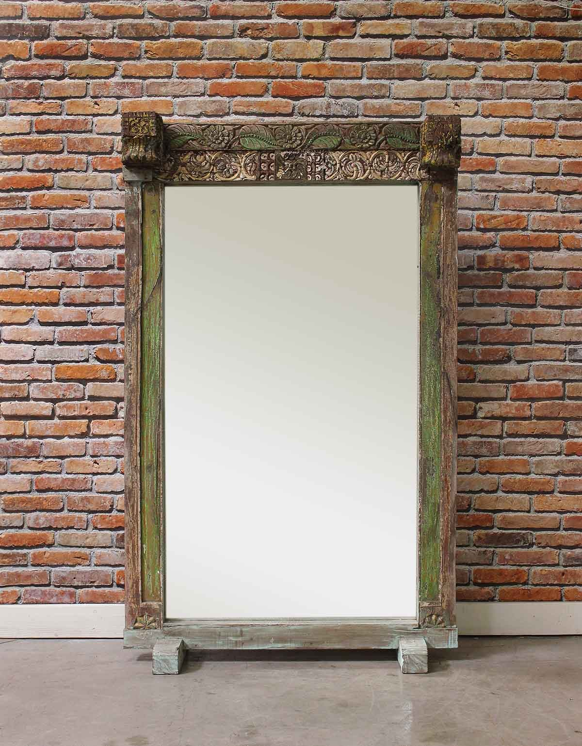 Attractive Lime Green Vintage Floor Mirror - Mirrors - Home Furnishings WG99