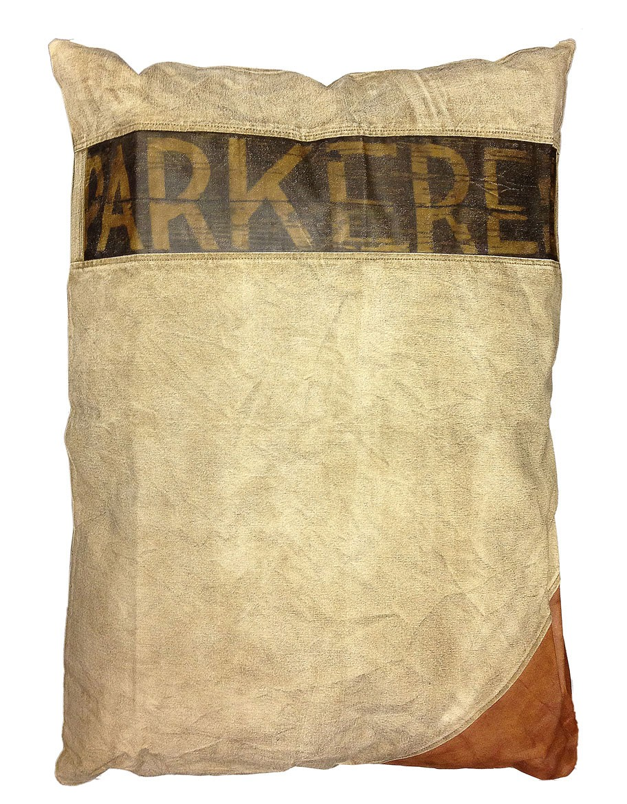 Large Rectangular Pillow w/Leather Applique - Home Accessories - Home Furnishings