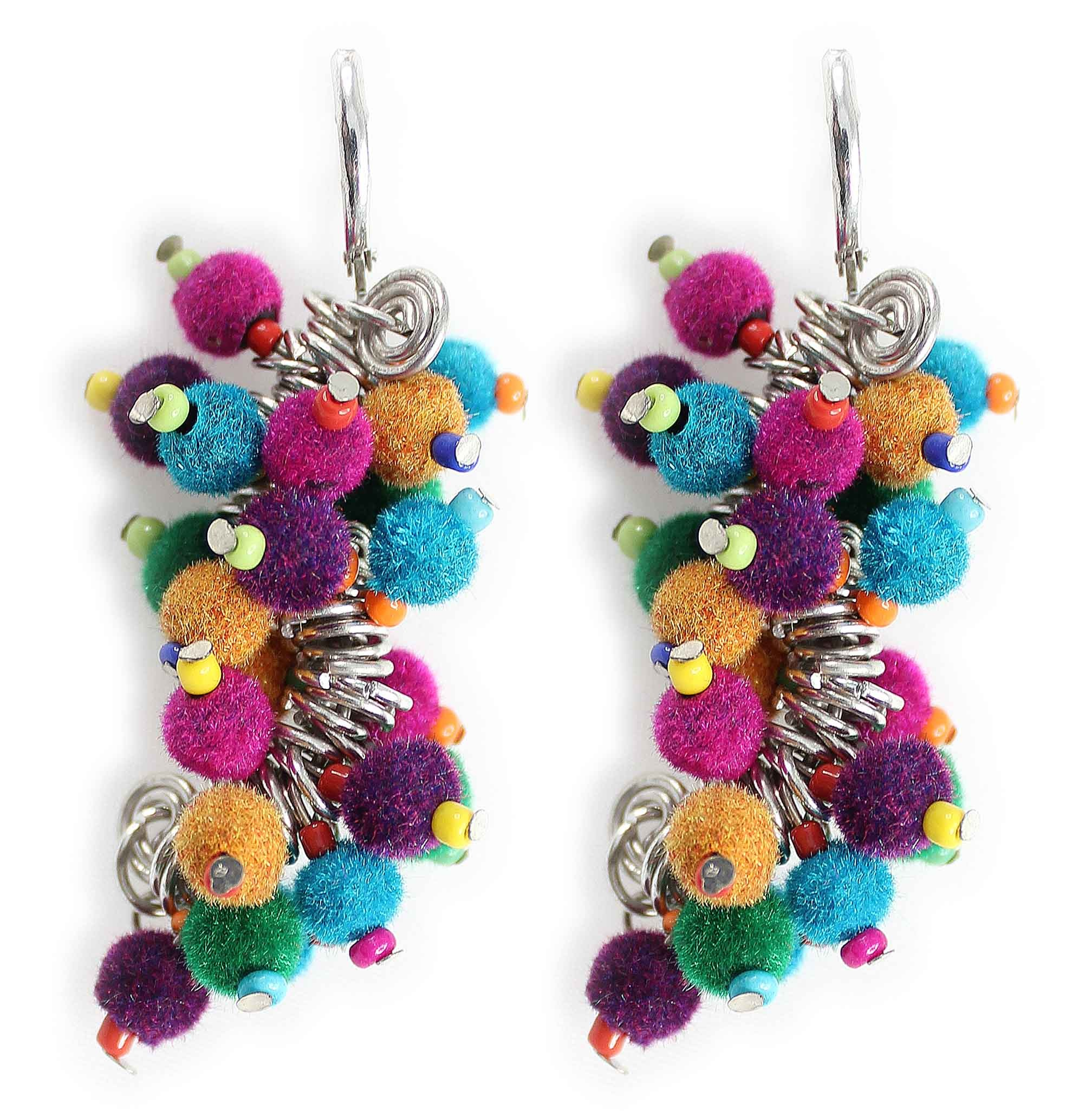 magnetic stud pastel rainbow daisy earrings claire us crystal s