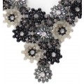 Botanical Spray in Black Necklace