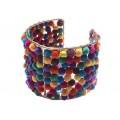 Rainbow Pompom Cuff