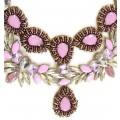 Vintage Glamour Pink Necklace