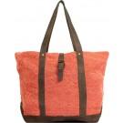 Peach Jute Shoulder Bag FRONT
