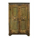 Mustard Cabinet with Vintage Floral Handles
