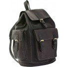 Marrakesh Chocolate Leather Backpack FRONT