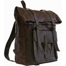 Medina Chocolate Leather Backpack FRONT