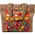 Chocolate Brown Leather Studded Handbag