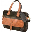 Suede & Leather Brown Messenger/Laptop Bag
