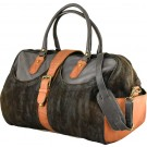 Suede & Leather Brown Travel Bag