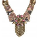 Wonderland Topaz Necklace with Pink Accents
