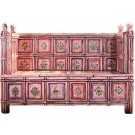 Pink Hand-painted Wooden Sofa