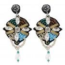 Fab Peacock Earrings