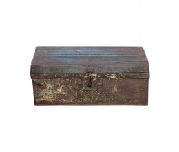 1950s Rustic Iron Traveler's Trunk