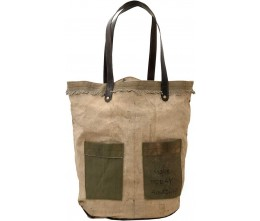Make Today Amazing Recycled Military Tent Tote