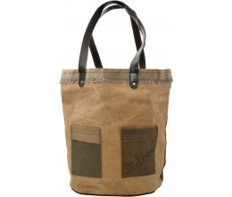 Love Recycled Military Tent Tote
