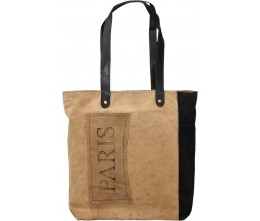 Paris Patch 2-Tone Tote