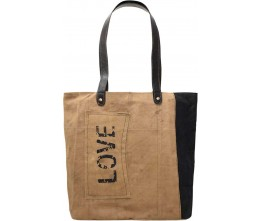 Love Patch 2-Tone Tote
