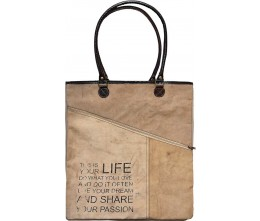 This Is Your Life Assymetric Zipper Tote