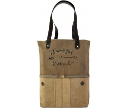 Thankful and Grateful Rectangular Tote