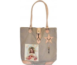 Blessed Heart Canvas Tote