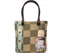 Cant's Into Cans Tent Patchwork Tote