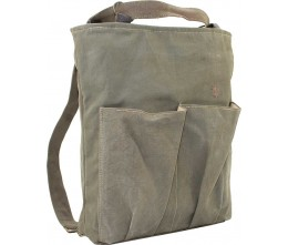 Recycled Military Tent Backpack/Crossbody ANGLE