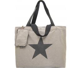 Washed Grey Canvas Bag FRONT