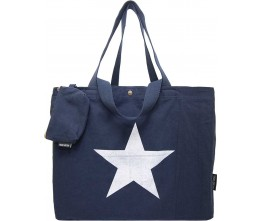 Washed Navy Blue Canvas Bag FRONT