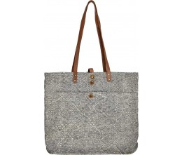 Large Grey Jute Tote