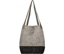 Charcoal & Grey Bucket Tote