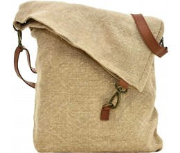 Foldover Natural Jute Crossbody