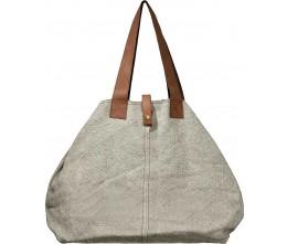 Ash Grey Jute Shoulder Bag