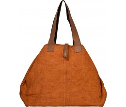 Persimmon Jute Shoulder Bag