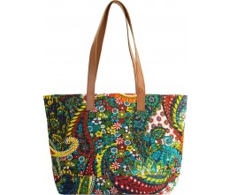 Multi Color Kantha Tote FRONT